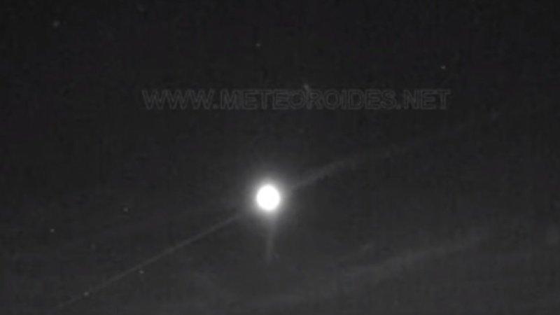 Detectan una bola de fuego sobrevolando el centro y el sur a 104.000 km/hora