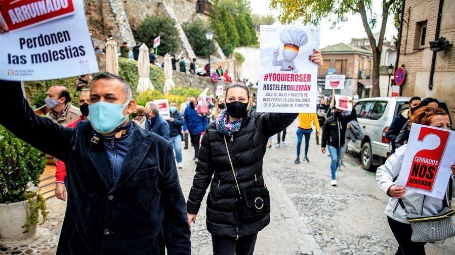 Los hosteleros de Toledo lamentan las nuevas restricciones y piden ayudas directas
