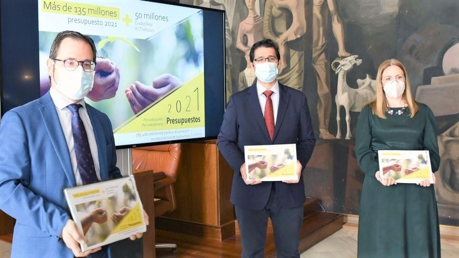 Diputación prioriza la recuperación socioeconómica de Ciudad Real con 135 millones en 2021