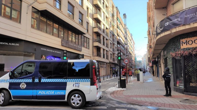 Casi 800 incidencias acumuladas en la ciudad de Albacete desde que llegó 'Filomena'