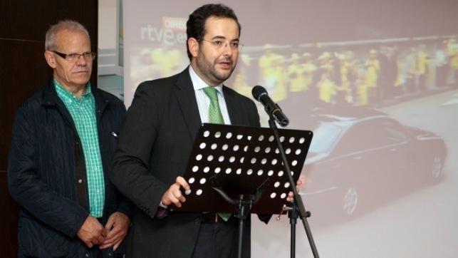 El secretario general de Asuntos Sociales y Voluntariado, José María Dívar, en el encuentro de la ONCE CLM para celebrar el Premio Príncipe de Asturias de la Concordia 2013