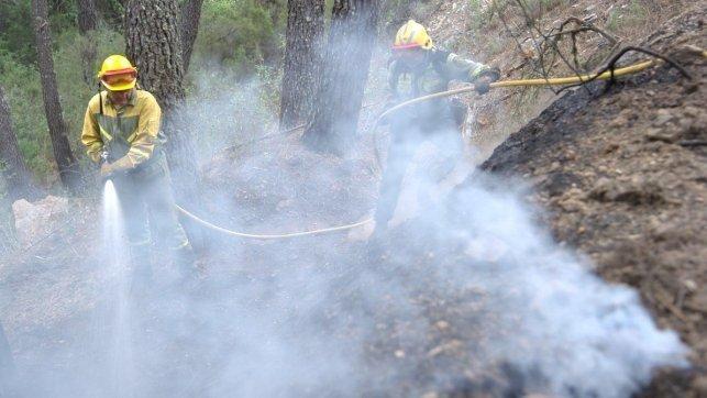 Controlado un incendio forestal declarado en el término municipal de Cazalegas
