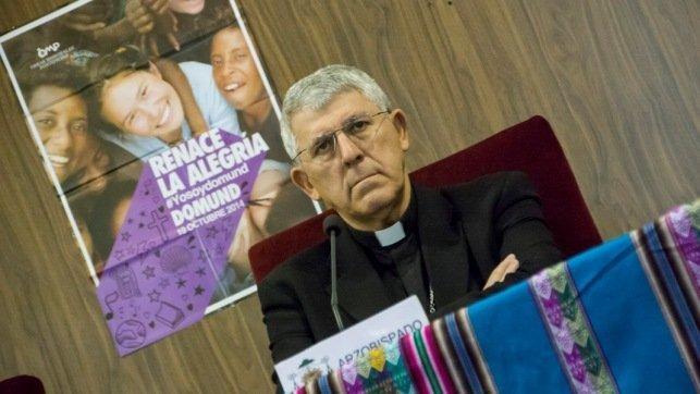 El arzobispo de Toledo y primado de España, Braulio Rodríguez, en una imagen de archivo durante una comparecencia ante los medios