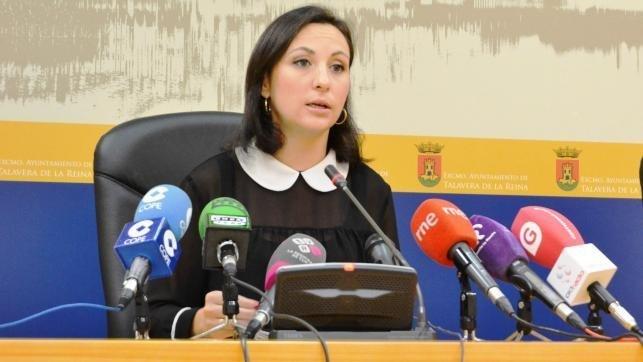 La portavoz del equipo de Gobierno del Ayuntamiento de Talavera de la Reina, María Rodríguez - Archivo