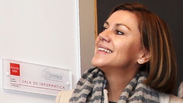 La presidenta de Castilla-La Mancha, María Dolores Cospedal, este viernes durante un acto en la ciudad de Guadalajara tras ser ratificada por el PP como candidata