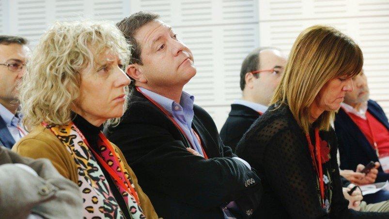 El secretario general del PSOE y presidente de Castilla-La Mancha, Emiliano García-Page, este sábado en la reunión del Comité Federal del partido