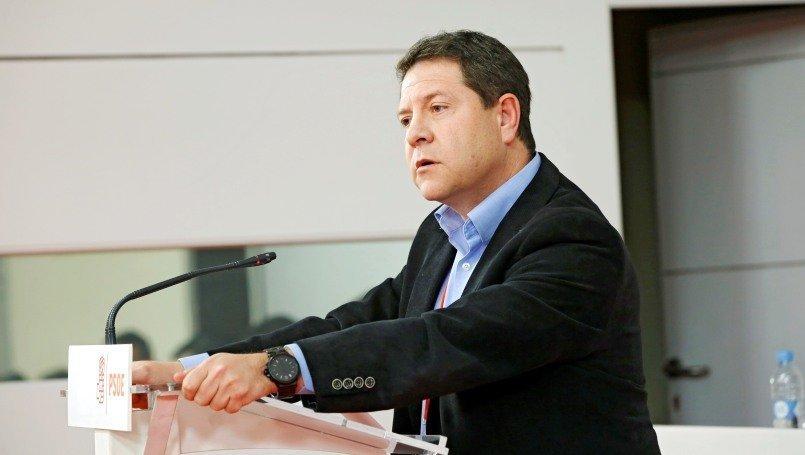 El secretario general del PSOE y presidente de Castilla-La Mancha, Emiliano García-Page, este sábado durante su intervención en el Comité Federal del partido
