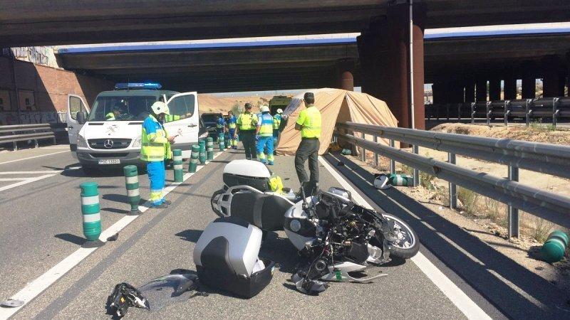 Muere un hombre tras sufrir un accidente de moto con la que circulaba a alta velocidad