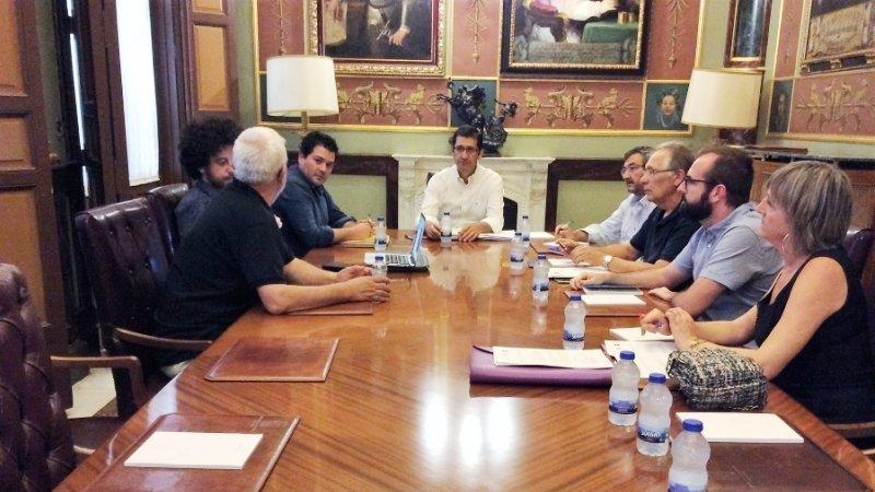 Imagen de la reunión de la Comisión para la Recuperación de la Memoria Histórica impulsada por la Diputación Provincial de Ciudad Real