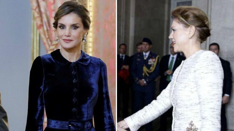 La Elegancia Del Vestido De Letizia Compite Con El Recogido Militar