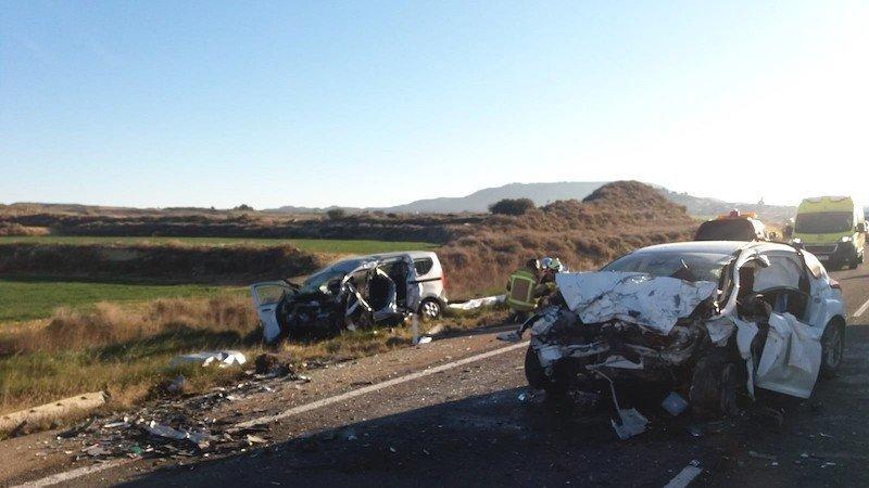 Dos fallecidos y dos heridos graves en accidente de tráfico en la carretera N-122