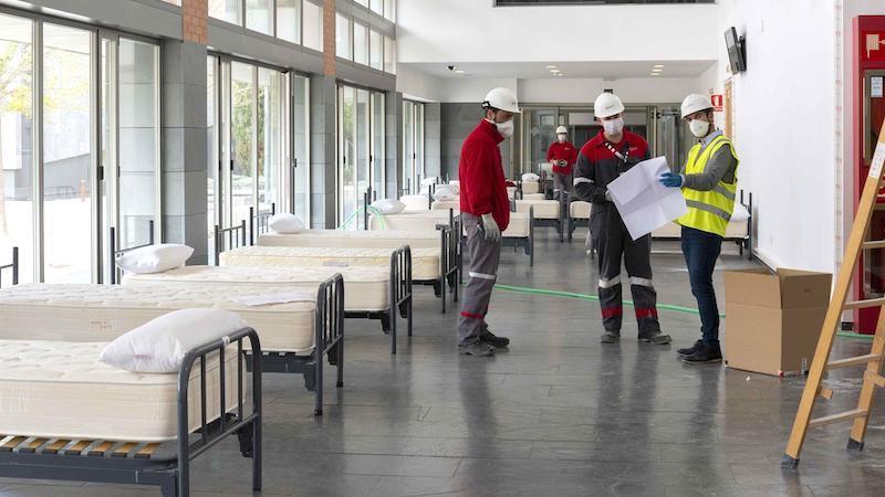 Arrancan las obras del hospital de campaña en Albacete que podría estar esta semana