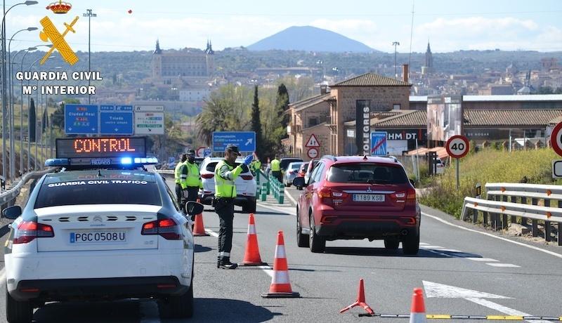 Cinco heridos leves en los tres accidentes registrados en CLM el fin de semana