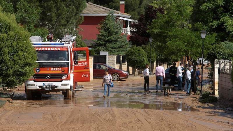 Las tormentas de granizo causan numerosos daños en varios pueblos de Guadalajara