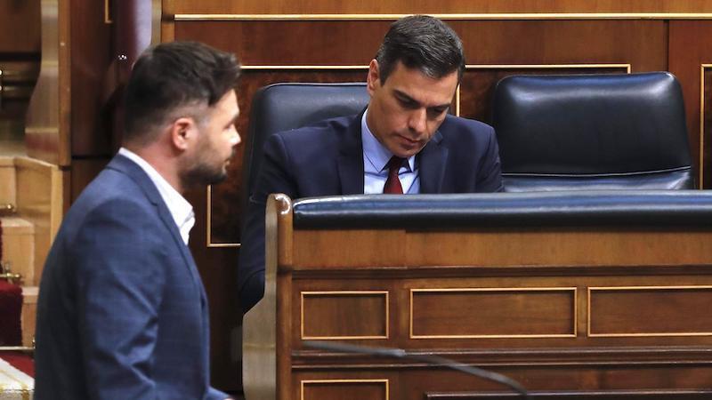ERC pacta con el Gobierno abstenerse en la sexta y última prórroga del estado de alarma