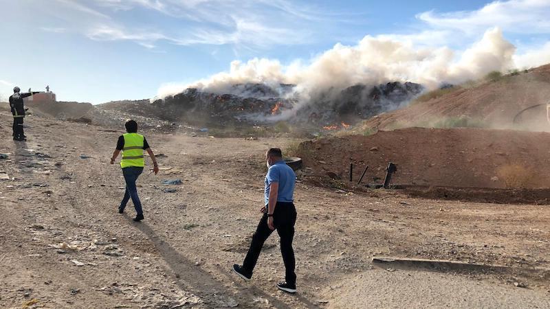 Controlado un incendio declarado en el Centro de Tratamiento de Residuos Albacete