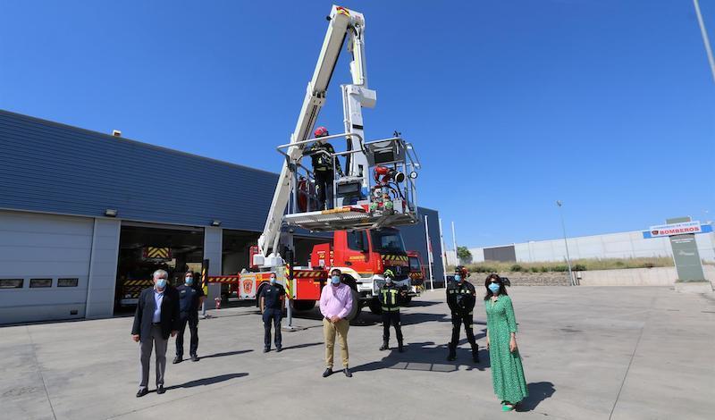El Consorcio de Bomberos de Toledo cuenta con un nuevo vehículo de brazo extensible