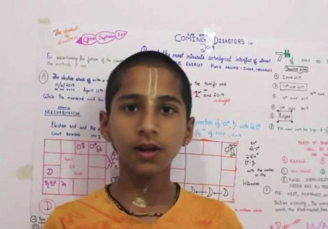 El niño que predijo el coronavirus alerta de una nueva catástrofe a final de este año