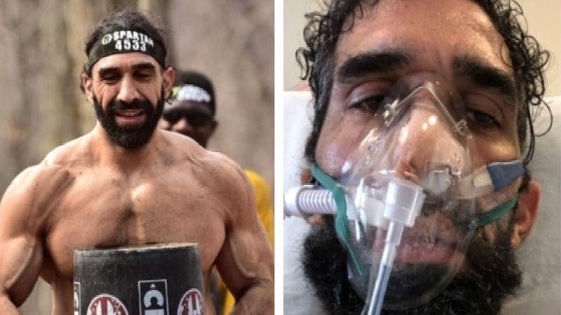 El impactante cambio de un atleta que casi muere por coronavirus: ha perdido 27 kilos