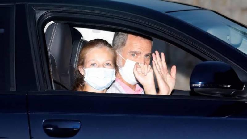 Los reyes inician estancia en Palma sin revelarse el destino del rey Juan Carlos I