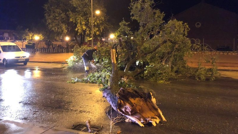 Una intensa tormenta caída en Alcázar de San Juan provoca numerosos desperfectos