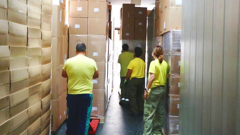 Junta ha distribuido más de 30 millones artículos de protección a sanitarios