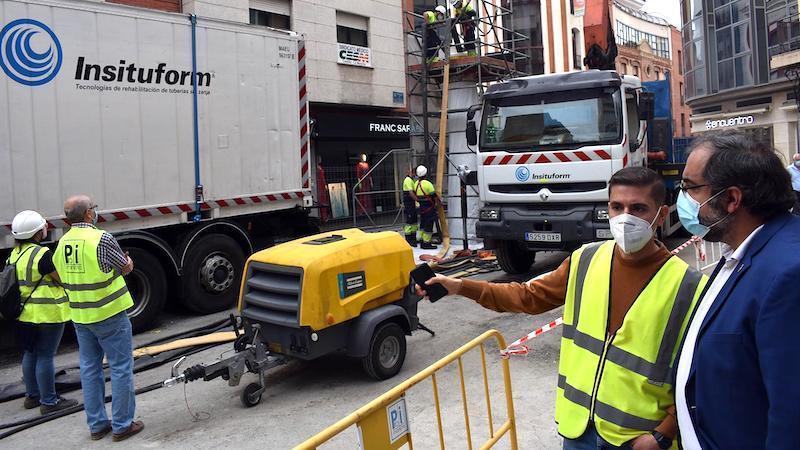Ayuntamiento de Ciudad Real utiliza una novedosa técnica para la renovación de un colector