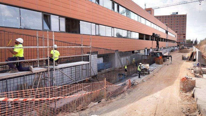 Las obras ampliación del Hospital Universitario de Guadalajara están ejecutadas en un 85%