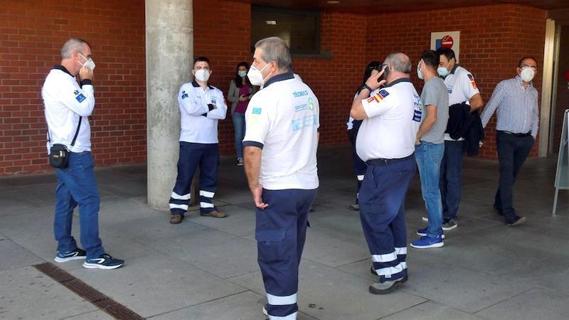 El 80% de los trabajadores del transporte sanitario de CLM secunda la huelga