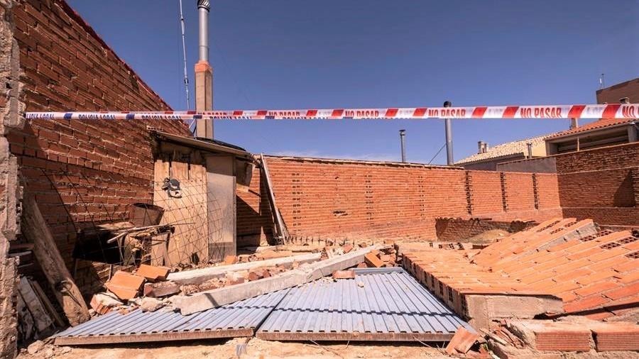 La localidad de Villacañas hace balance de los daños tras el tornado del sábado