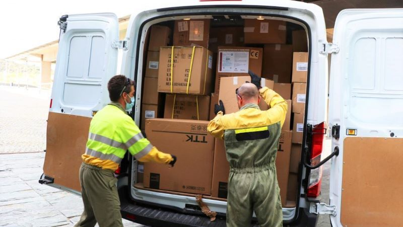 Junta distribuye otros 272.000 artículos de protección en los centros sanitarios