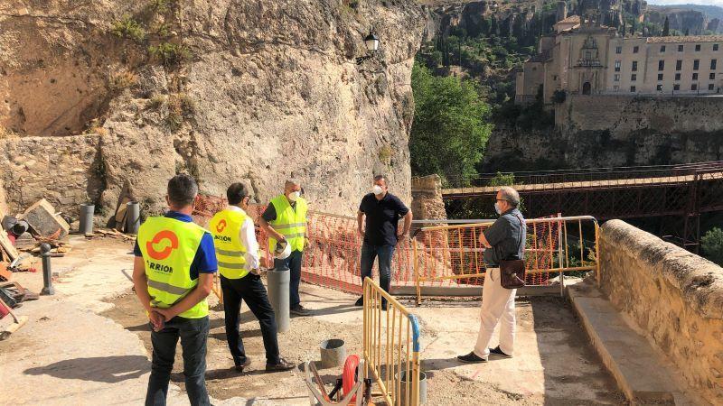 La reconstrucción del muro de la calle Canónigos de Cuenca comenzará en unos diez días