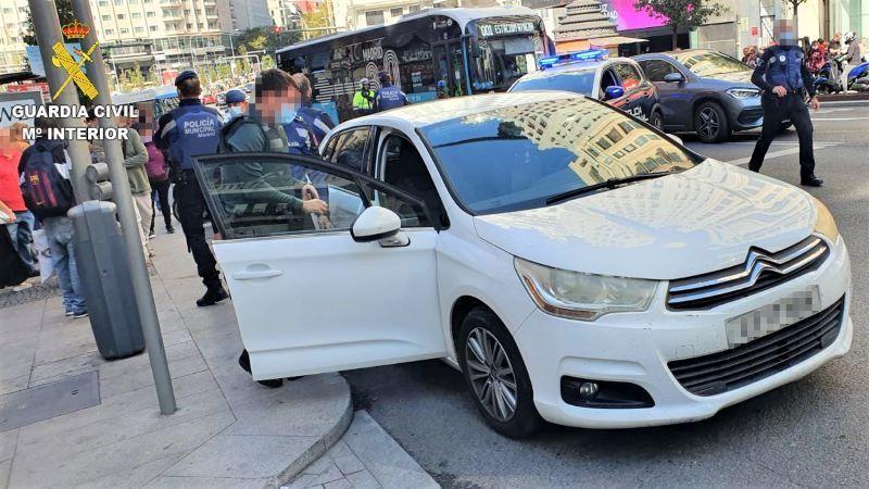 Roba un coche en gasolinera de Talavera y es detenido en la Gran Vía de Madrid